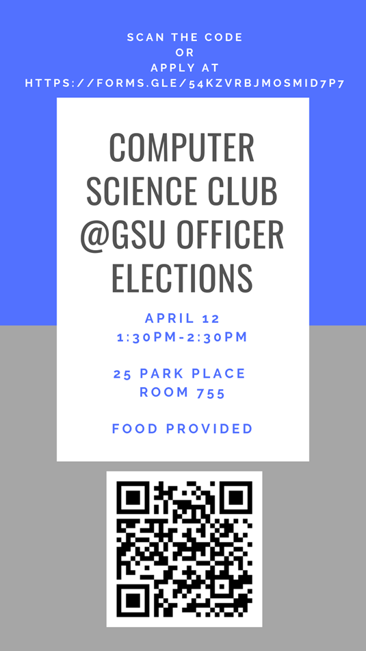 Computer Science Club @GSU Officer Elections