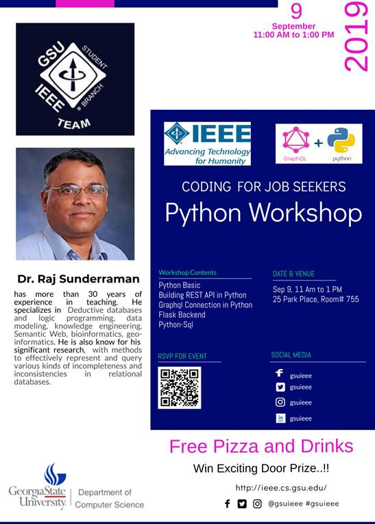 IEEE Python Workshop_Coding for Job Seekers_Raj Sunderraman_9-5-2019